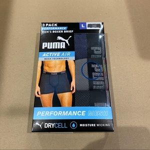 Puma Men's Mesh Boxer Briefs - 3-pack